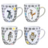 Set of 4 Funimals Mugs by Clare Mackie