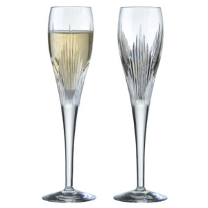 Set of 2 Shard Champagne Flutes