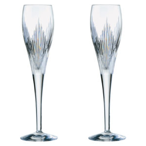Set of 2 Shard Champagne Flutes by Anton Studio Designs