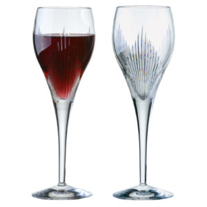 Set of 2 Shard Wine Glasses
