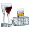 Set of 2 Latitude Champagne Flutes by Anton Studio Designs