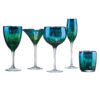 Set of 2 Peacock Gin Glasses by Artland