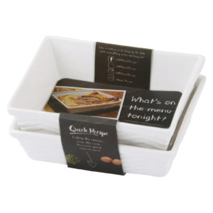 Set of 2 Quick Recipe Individual Rectangular roaster