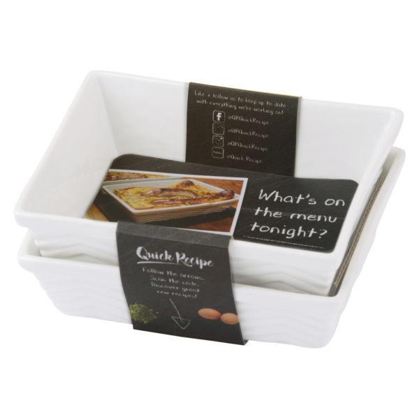 Set of 2 Quick Recipe Individual Rectangular roaster