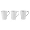 Set of 3 Lux Mugs Blue by BIA