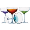 Fizz Champagne Saucers - Set of 4