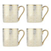 electroplated art deco mugs