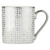 Set of 4 Art Deco Mugs Platinum by BIA