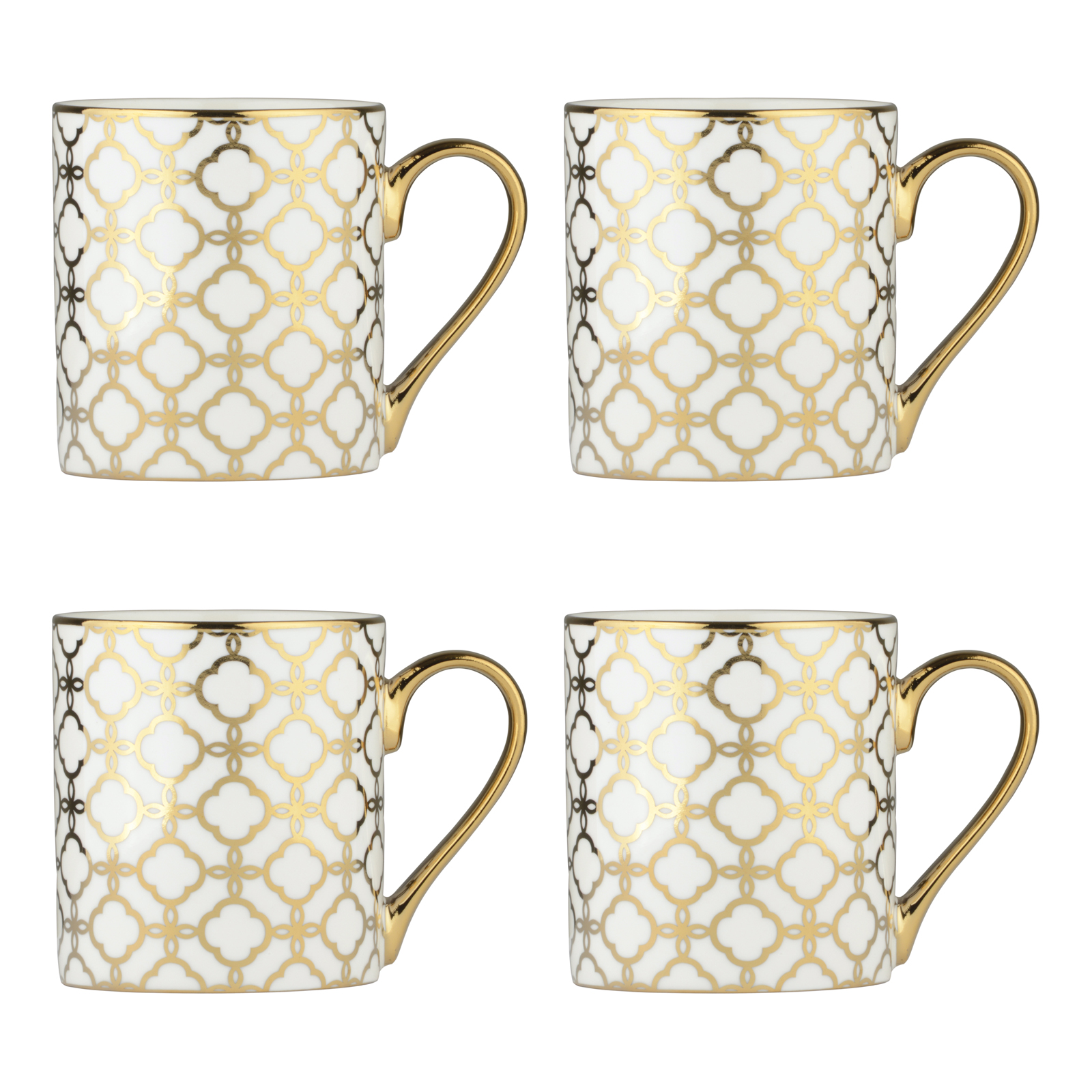 Set of 4 Links Gold Mugs