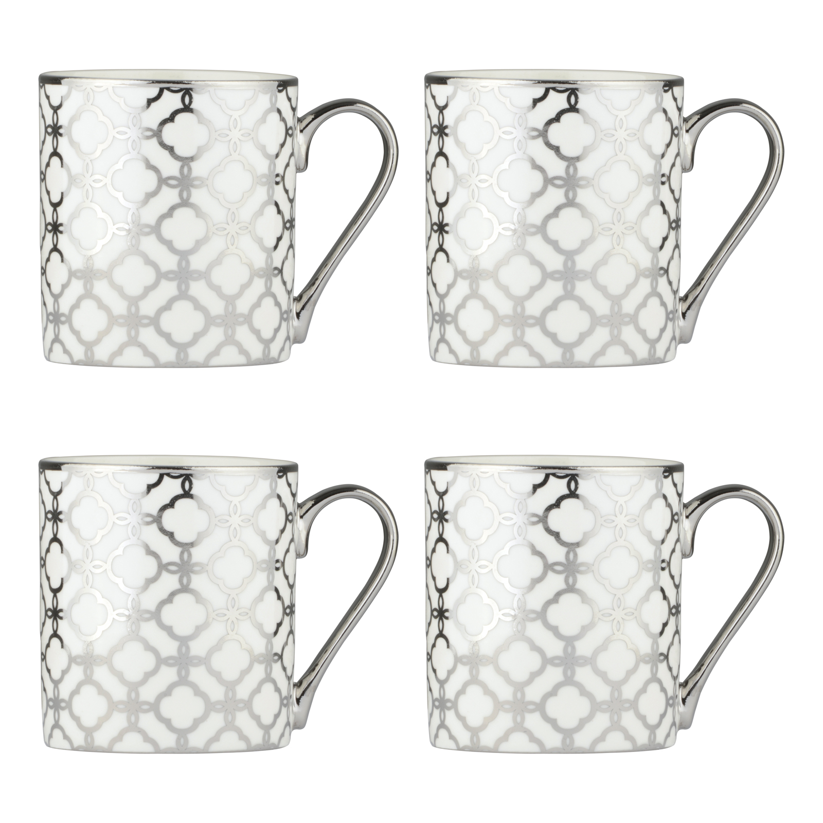 Set of 4 Links Platinum Mugs