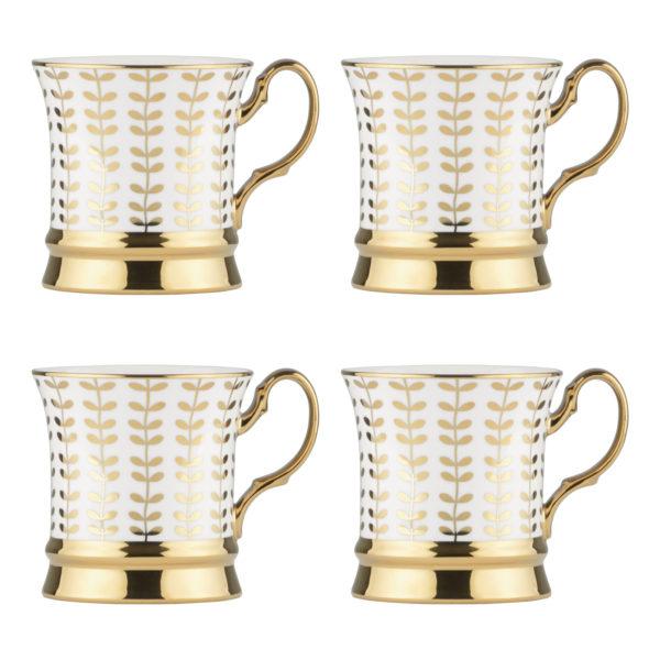 Set of 4 Vine Gold Mugs