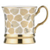 Set of 4 Leaf Mugs Gold by BIA