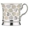 Set of 4 Leaf Mugs Platinum by BIA