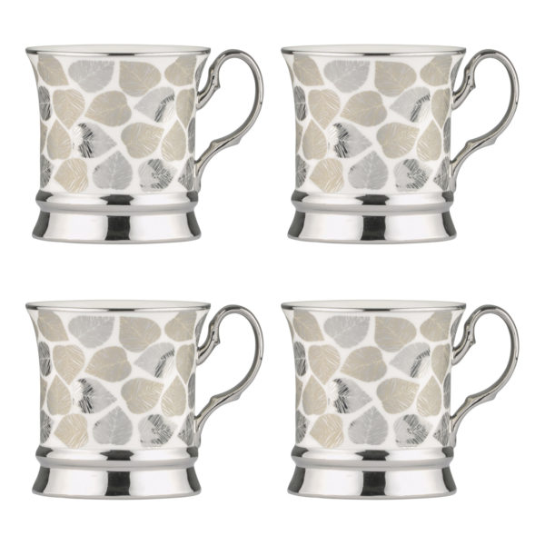 electroplated leaf mugs