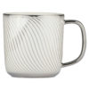 Set of 4 Swirl Mugs Platinum by BIA