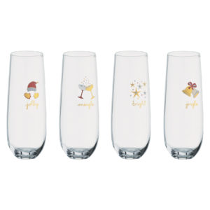 Jolly and Bright Stemless Flutes
