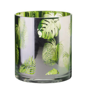 Set of 2 Tropical Leaves Gin Glasses by Artland