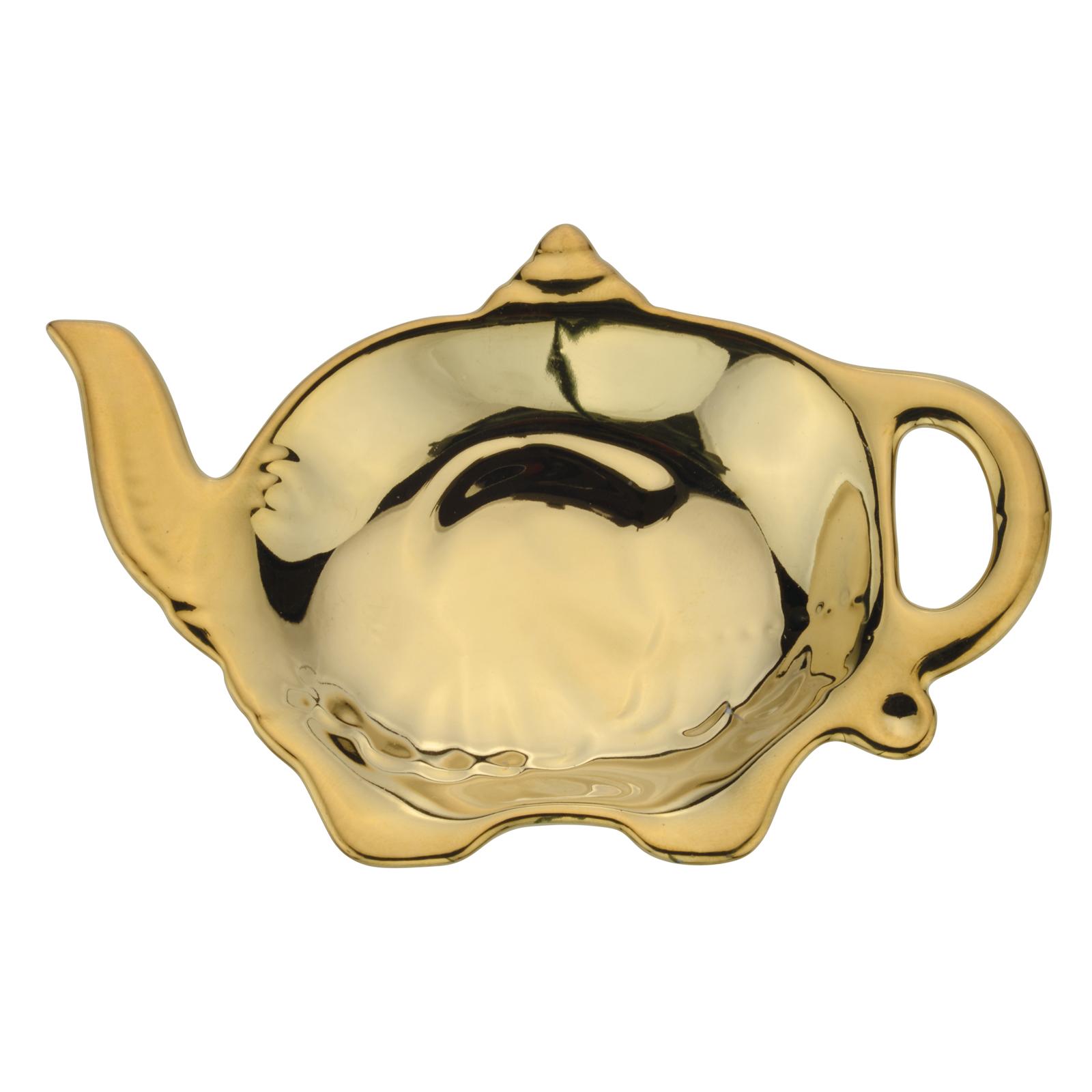 Elephant Teabag Tidy gold