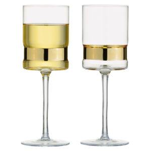 Set of 2 SoHo Wine Glasses Gold by Anton Studio Designs