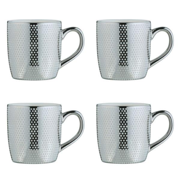 Dots Silver Espresso Mugs